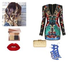"""Untitled #58"" by mystylesochic on Polyvore featuring Balmain, Christian Louboutin, KOTUR and Bobbi Brown Cosmetics"