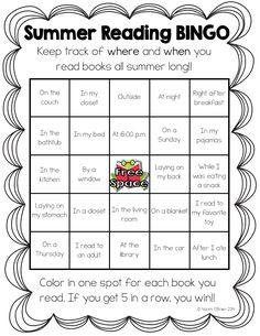 Read Like A Rock Star! : Summer Reading Bingo Freebie!