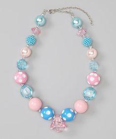 Another great find on #zulily! Blue & Pink Necklace by Diva Daze #zulilyfinds