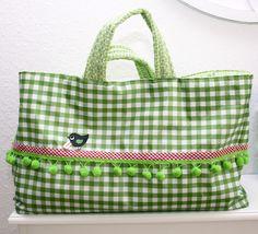 anleitung für eine genähte einkaufstasche + in klein fürs Kind