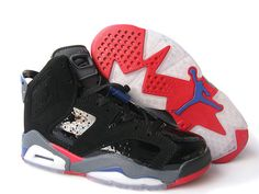 Air Jordan Women Shoes Women\u0026#39;s Air Jordan 6 Black Grey Blue Red [Womens Air Jordan 6 - You will perform well with a pair of Women\u0026#39;s Air Jordan 6 Black Grey ...