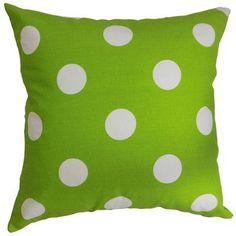 The Pillow Collection Rane Polka Dots Throw Pillow Cover Color: