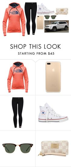 """""""Just like you"""" by bustamantemariana ❤ liked on Polyvore featuring The North Face, adidas, Converse, Ray-Ban and MICHAEL Michael Kors"""