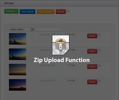 Create a PHP function to upload and automatic extract the images and create the thumbnails.