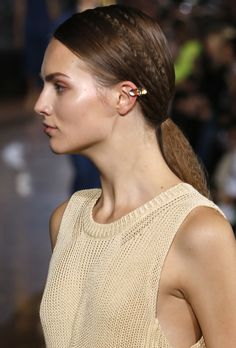 Stella McCartney Ponytail Hairstyles 2015 From Paris Fashion Week