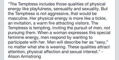 The Temptress, archetype, feminine, sexuality, Alison Armstrong, quotes
