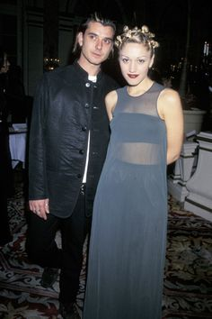 Gwen Stefani and Gavin Rossdale arrive at the 40th Annual Grammy Awards on February 23, 1998 [Photo: Getty Images]