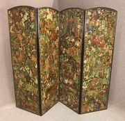Victorian Folding Decoupage Dressing Screen
