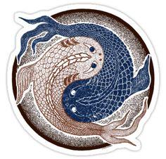 yin yang fish, shuiwudao mandala by peter barreda