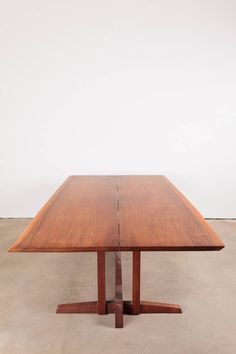 """George Nakashima Frenchman's Cove Table.  the """"bow-tie"""" keys."""