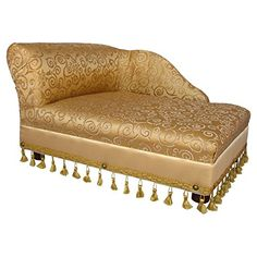 Mini Chaise Elegant Gold Pet Bed   Check it out-->  http://mypets.us/product/mini-chaise-elegant-gold-pet-bed/  #pet #food #bed #supplies