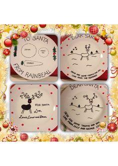 Personalised christmas plates!