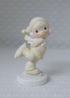 Precious Moments Figurine Enesco Ice Skater by RaindropVintageShop, $22.00