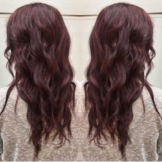 Dark auburn hair for winter season, or any season! Hair by Allison Varela