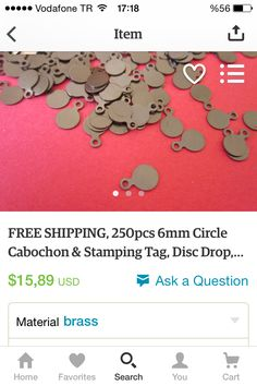 #circle #6mm #cabochon #stamping #tag #freeshipment #freeshipping #freeshippingnationwide #etsy #premium #premiumquality #pretty #etsyfind #etsylove #etsysale #etsyshop #etsyseller #etsyfinds #etsyelite #etsyjewelry #jewellery #jewelry #handmade https://www.etsy.com/listing/219261470/free-shipping-250pcs-6mm-circle-cabochon