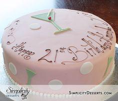 21st birthday cake. I love that lettering!