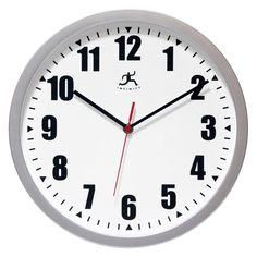 Infinity Instruments Silver Office 12W x 12H in. Wall Clock | from hayneedle.com
