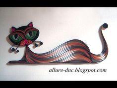 quilled paper cat