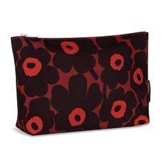 Marimekko Unikko Red / Plum Ruut Bag