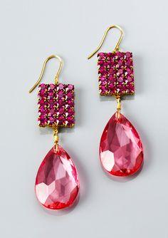 Lenora Dame lucite bling earrings