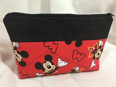 Mickey Mouse Cosmetic/Make Up/Travel Bag by MommyMaryCrafts on Etsy