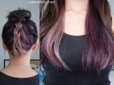 All The Shades of Purple // New Hair Color! All The Shades of Purple // New Hair Color! Under Hair Dye, Under Hair Color, Hidden Hair Color, Hair Color Underneath, Peekaboo Hair Colors, Hair Color Purple, Hair Color For Black Hair, Cool Hair Color, Brown Hair