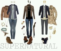 Found this on facebook, thought the outfits were sooo cute! Especially middle (dean's) and last (castel's) <3
