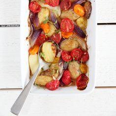 varm potetsalat featured Frisk, Nom Nom, Vegetables, Food, Essen, Vegetable Recipes, Meals, Yemek, Veggies