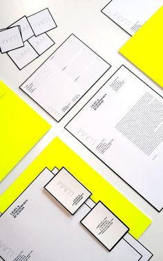 Bright, cheery yellow against black and white.