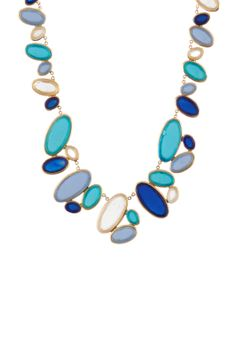 All Around Multi Oval Necklace