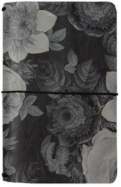 Simple Stories - Carpe Diem - Beautiful Collection - Traveler's Notebook - Black Vintage Floral