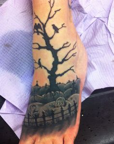 My graveyard scene on same leg as bats.