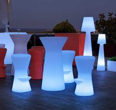 Mesa con luz de LED para exteriores 110cm | Tienda de lámparas, lámparas de LED, ventiladores de techo, decoración