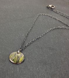 handcrafted sterling silver enamel pendant | Esma Jewelry
