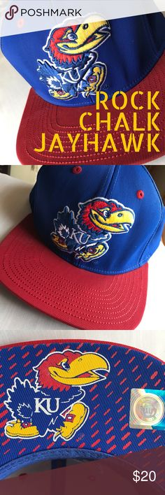 Jayhawk Snap Back Baseball Cap Rock your KU spirit I. This fun baseball cap from Adria's. Features classic snap closure. NWOT. Adidas Accessories Hats
