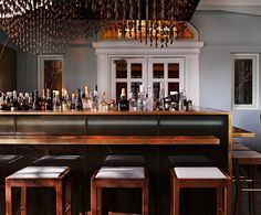 Bar @ the Town Hall Hotel London. Late night rendez-vous essential.