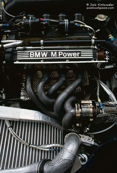 The BMW engine at Monaco Designed by Paul Rosche, the BMW Turbo was one of the most powerful engines ever installed in a Grand Prix Car. Its development problems were enormous. The Novem. Bmw Engines, Race Engines, Motor Engine, Car Engine, Engine Block, Rolls Royce, Grand Prix, Bmw Interior, Bmw M Series