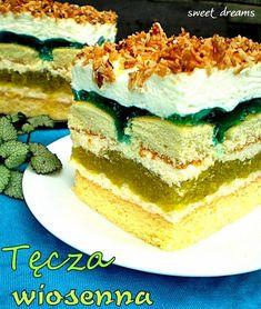 "Кулинарный Блокнот : Пляцок ""Весенняя радуга"" Russian Desserts, Russian Recipes, Homemade Cakes, Sweet Desserts, Vanilla Cake, Sweet Tooth, Sweet Treats, Cheesecake, Good Food"