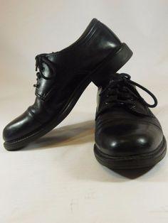 Dockers Men's Cap Toe Shoes Dress Comfort Oxfords Black Leather 9.5 M #Dockers #GordonOxfords