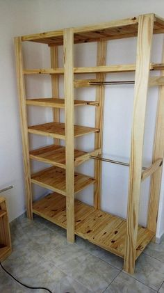 This wood pallet repurposing idea is being stylishly added with the cooperative taste of the closet Diy Furniture Hacks, Diy Pallet Furniture, Diy Pallet Projects, Wood Furniture, Wood Projects, Pallet Ideas, Furniture Design, Playhouse Furniture, Pallet Playhouse