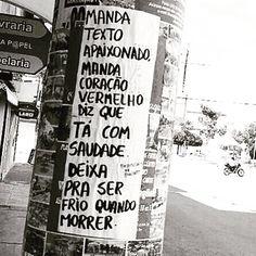 Não poupe amor!!! Peguei do @danielbovolento #frases #amor #demonstre #viva #ame #streetart