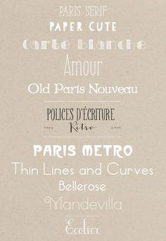 Polices d ecriture Paris - Mariage - La mariee aux pieds nus