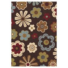 Mad Meadow Chocolate Multicolor Rug 5 X 7 ft