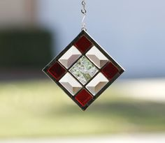WINTER BERRY  Stained Glass Christmas Ornament by gallerydelsol