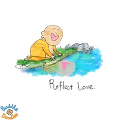 Little Buddha love. Tiny Buddha, Little Buddha, Buddha Zen, Buddah Doodles, Happy Thoughts, Life Thoughts, Illustrations, Cute Quotes, Spiritual Quotes