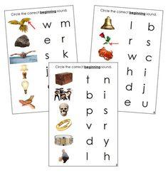 Step 2: Initial Sound Choice Cards (photos) Phonetic Sounds, Initial Sounds, Blue Words, Choices, Initials, Language, Letters, Montessori, Photos