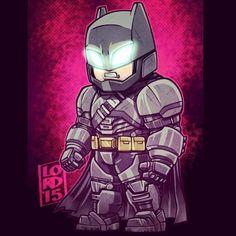 Batman v Superman - Batman (Bat Armor) Batman Vs Superman, Batman Robin, Marvel Dc Comics, Chibi Marvel, Marvel Vs, Heros Comics, Dc Heroes, Comic Books Art, Comic Art