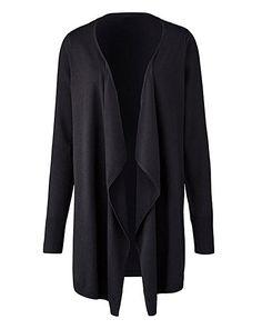 Casual Loose Knit Waterfall Cardigan Jacket Long Sleeve Irregular ...