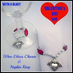 Wine Glass Charm & Napkin Ring Set  ~ Easy DIY