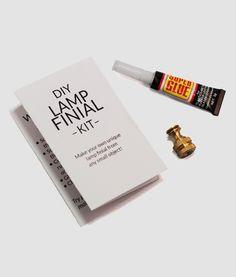 DIY lamp finial kit